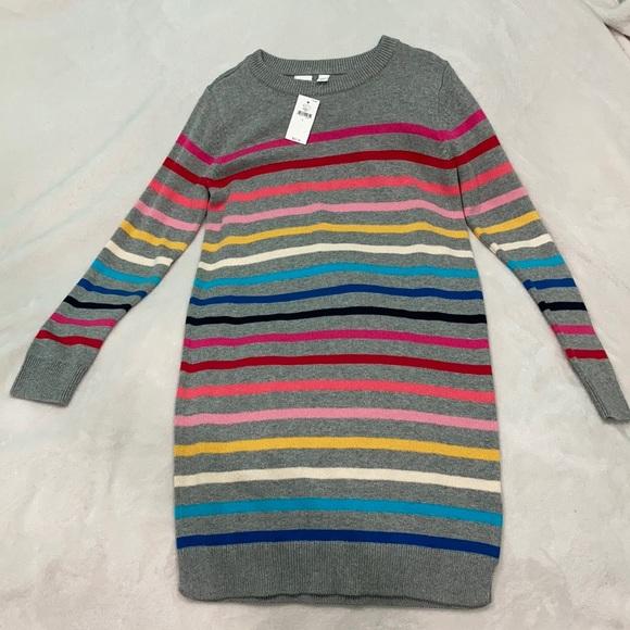 Girl's Gap kids L (10) rainbow sweater dress